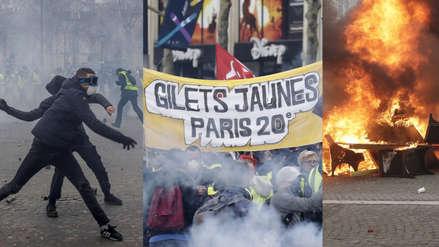"""""""Macron, vamos por ti"""": 'Chalecos amarillos' vuelven a las calles de París con saqueos y choques"""