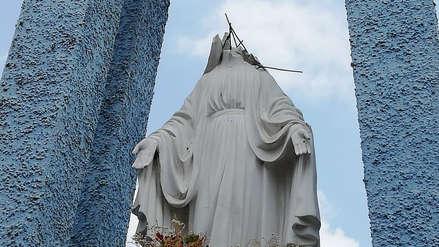 Arequipa | Vándalos dejaron sin cabeza a imagen de la Virgen María [Video]