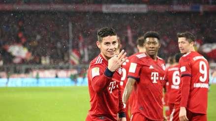 Con triplete de James Rodríguez, Bayern Múnich goleó al Mainz y es líder de la Bundesliga