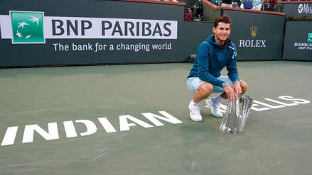 De estreno: Dominic Thiem logró su primer Masters 1000 ante Roger Federer en Indian Wells