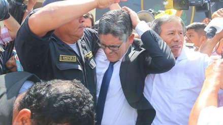 José Domingo Pérez y fiscal adjunta pasan por medicina legal tras agresión de simpatizantes fujimoristas