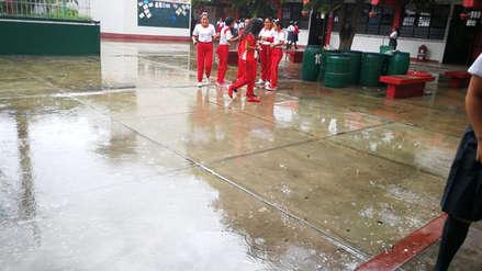 Clases escolares no se suspendieron, pese a las lluvias en Trujillo