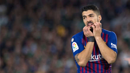 ¡Preocupación en Barcelona y Uruguay! Luis Suárez terminó lesionado tras el partido ante Betis