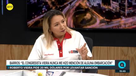 Ministra de Producción aseguró que Vieira nunca le mencionó el tema de la embarcación de su primo