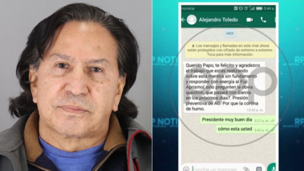 Recibimos un mensaje desde el celular de Alejandro Toledo tras su detención: esto es lo que dice
