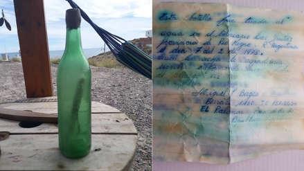 Halló botella con mensaje enviado hace 44 años, buscó al hombre que lo envió y este fue el resultado