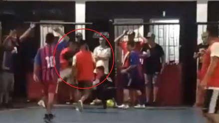 La última de Ricardo Centurión: se agarró a golpes con arquero en partido de futsal