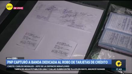 Policía desarticula banda criminal 'Los cibernéticos de Miraflores'