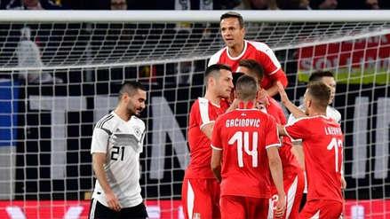 La 'nueva' Alemania empató ante Serbia en amistoso internacional FIFA