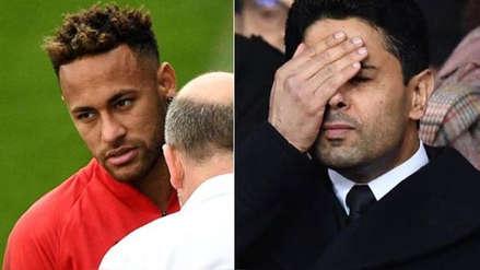 Neymar se enfrentó al presidente de PSG por permanencia Dani Alves