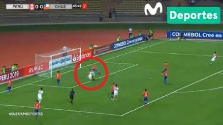 El rápido ataque de Perú que casi acaba en gol ante Chile