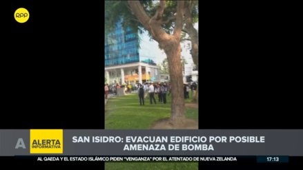 Evacuan edificios en San Isidro por posible amenaza de bomba