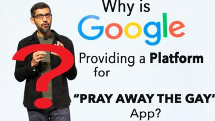 """Google no retira polémica app de """"terapia de conversión gay"""" de su tienda de aplicaciones"""