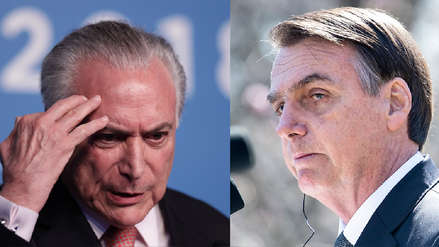 Jair Bolsonaro sobre el arresto de Michel Temer:
