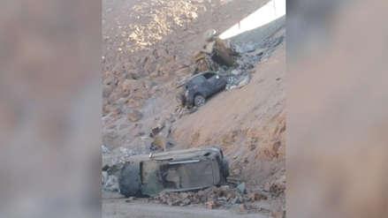 Dos muertos tras múltiple choque en la Panamericana Sur en Arequipa