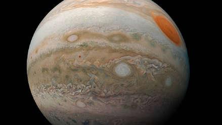 Esta foto muestra las tormentas de Júpiter en todo su esplendor
