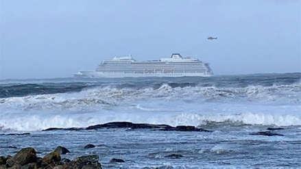Más de mil pasajeros evacuados en complejo rescate tras avería de crucero en Noruega