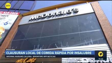 Restaurante de comida rápida fue clausurado por insalubre e inseguro en Miraflores
