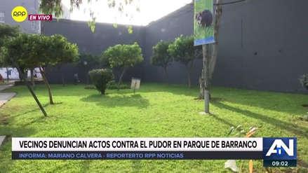 Vecinos de Barranco exigen presencia de serenos en parque donde pareja fue captada teniendo relaciones