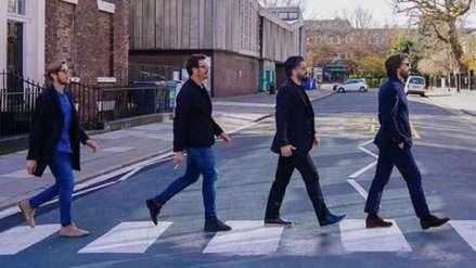 Pirlo y otras leyendas del Milán imitaron a 'The Beatles' en esta curiosa foto