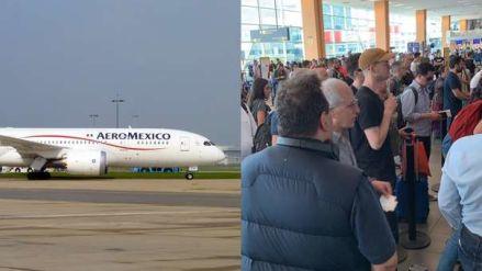 Avión de Aeroméxico con destino a Argentina aterrizó de emergencia en el aeropuerto Jorge Chávez