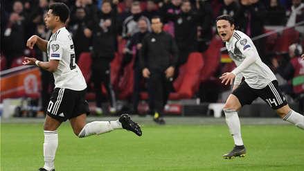 ¡Tremenda 'pinturita'! Serge Gnabry se lució con este golazo en el Alemania vs. Holanda