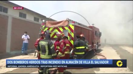EsSalud revela situación de bomberos heridos en incendio de Villa El Salvador