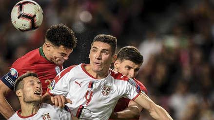 Portugal empató 1-1 ante Serbia y sufrió la lesión de Cristiano Ronaldo