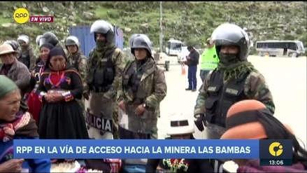Las Bambas   Así está la vía de acceso a la mina en medio de las protestas