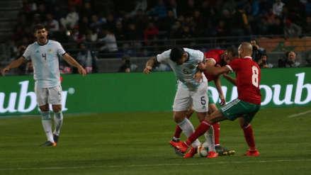 Argentina sufrió para vencer a Marruecos por la mínima diferencia