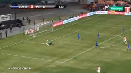 ¡Por poco! Yordy Reyna estuvo cerca de anotar ante El Salvador al tercer minuto de juego