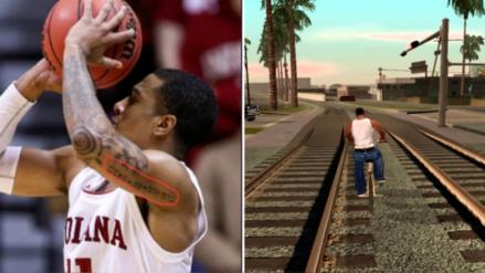 Basquetbolista profesional se tatúa un truco de GTA en su brazo