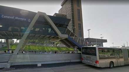 Una mujer cayó a las vías del Metropolitano en la Estación Canaval y Moreyra