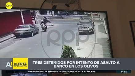 Delincuentes armados asaltaron un banco en Los Olivos