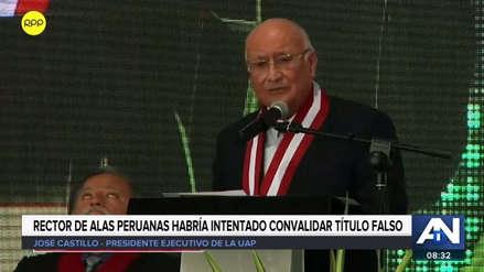 Universidad Alas Peruanas aceptó la renuncia de su rector