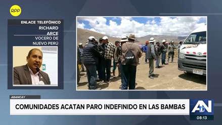 Las Bambas | Richard Arce plantea que se dicte comparecencia restringida a dirigente para retomar diálogo