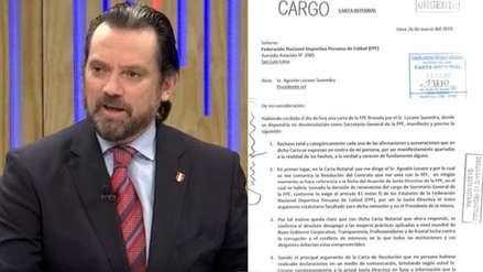 Juan Matute a Agustín Lozano: