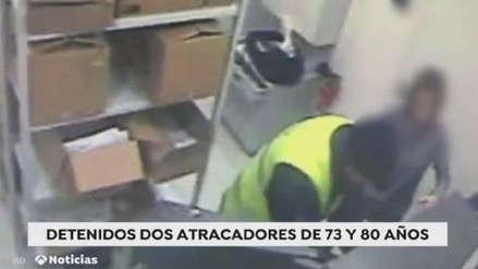 Ancianos de 80 y 73 años fueron detenidos por robo de bancos con armas de fuego y disfraces [VIDEO]