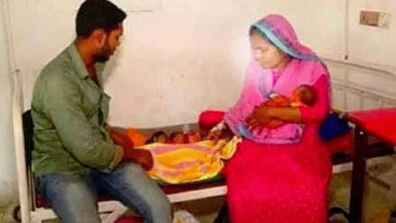Una mujer de Bangladesh dio a luz a gemelos un mes después de tener a su primer hijo