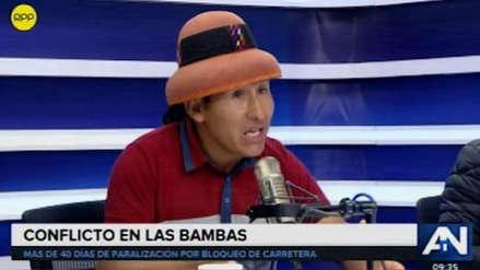 Las Bambas | Fiscalía dispuso la liberación del dirigente de Fuerabamba Gregorio Rojas Paniura