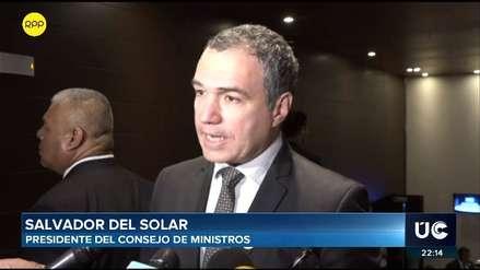 Salvador del Solar dice que tras liberación de dirigente de Fuerabamba