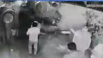 Una granada explotó en los exteriores de un bar en Lince [VIDEO]