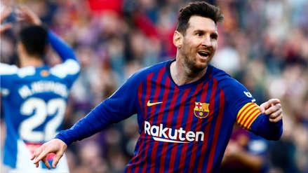 ¡Lo hizo otra vez! El gol de tiro libre de Lionel Messi que puso en ventaja al Barcelona ante Espanyol