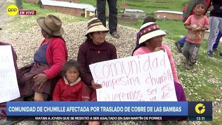 Las Bambas | Comunidad de Chumille apoya a Fuerabamba y se suma a protesta contra minera
