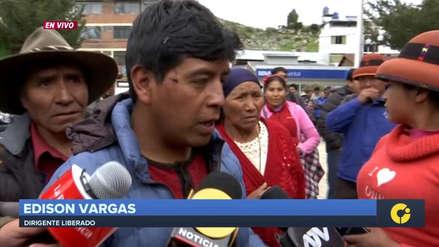 Las Bambas | El vicepresidente de la comunidad de Fuerabamba fue liberado