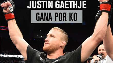 UFC Filadelfia: Justin Gaethje derrotó al brasileño Edson Barboza en el primer round