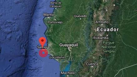 Un sismo de magnitud 6.3 y varias réplicas sacudieron la costa oeste de Ecuador