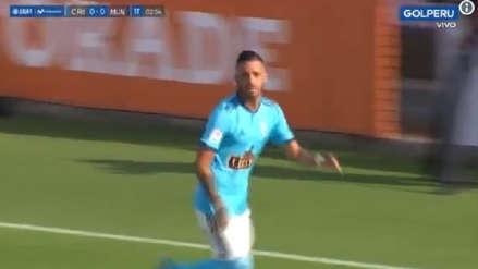 Sporting Cristal vs. Deportivo Municipal: Patricio Arce puso el primer tanto para el cuadro celeste [VIDEO]