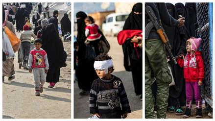 El futuro incierto de los niños de las familias del ISIS a una semana de la derrota de los extremistas