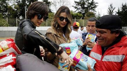 Dos Miss Universo venezolanas recolectaron ayuda humanitaria en Bogotá para sus compatriotas